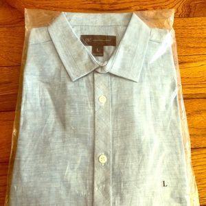 INC light blue long sleeve dress shirt
